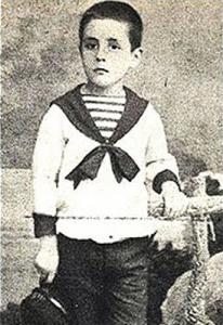 El escritor Juan Ramón Jiménez de niño