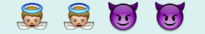 Ángeles y demonios en emoticonos