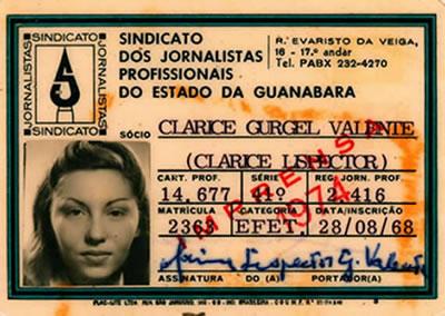 Carnet de prensa de Clarice Lispector