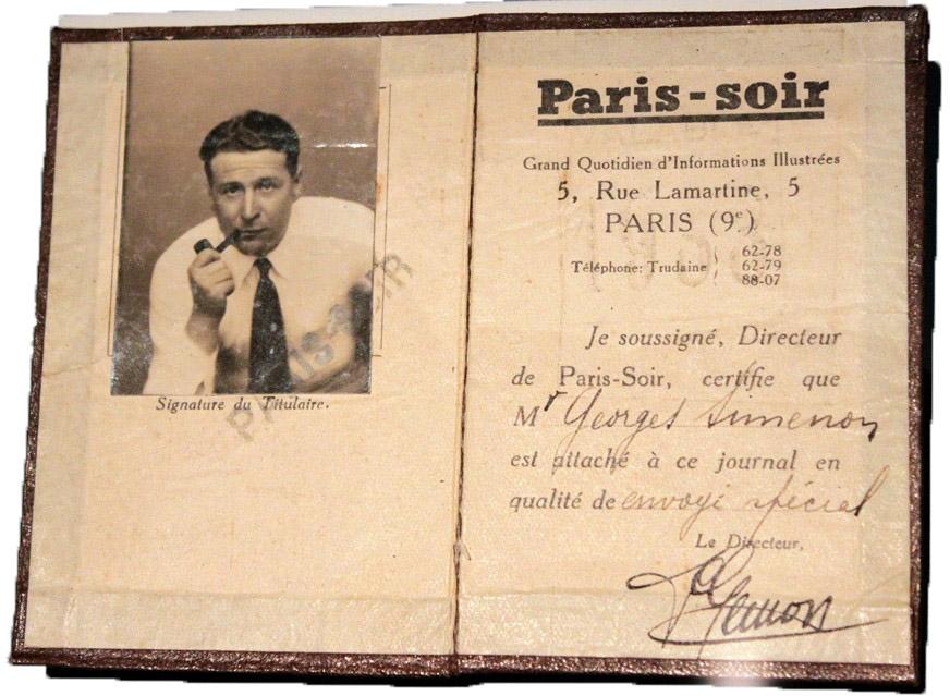 Georges Simenon, carnet de prensa