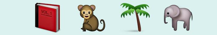 El libro de la selva en emoticonos