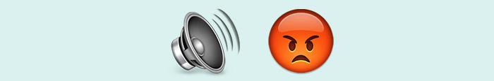 El ruido y la furia en emoticonos