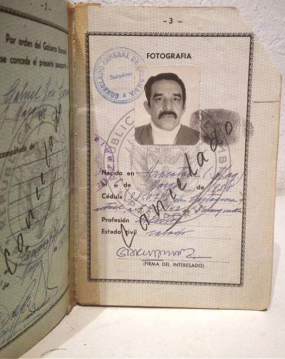 Pasaporte de Gabriel García Márquez