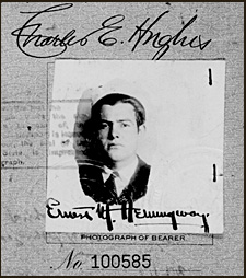 Hemingway. Pasaporte de 1921
