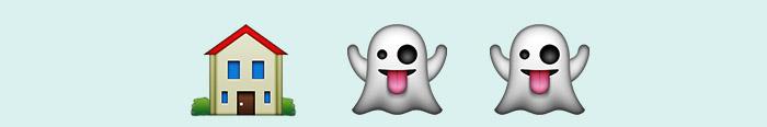 La casa de los espíritus en emoticonos