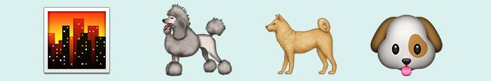 La ciudad y los perros en emoticonos