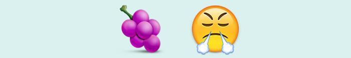 Las uvas de la ira convertida en emoticonos