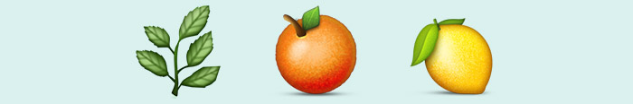 Mi planta naranja lima en emoticonos