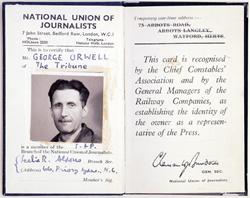 Carnet de prensa de George Orwell