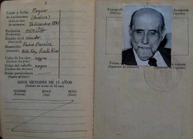 Pasaporte de Juan Ramón Jiménez