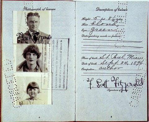 Pasaporte de Francis Scott Fitzgerald