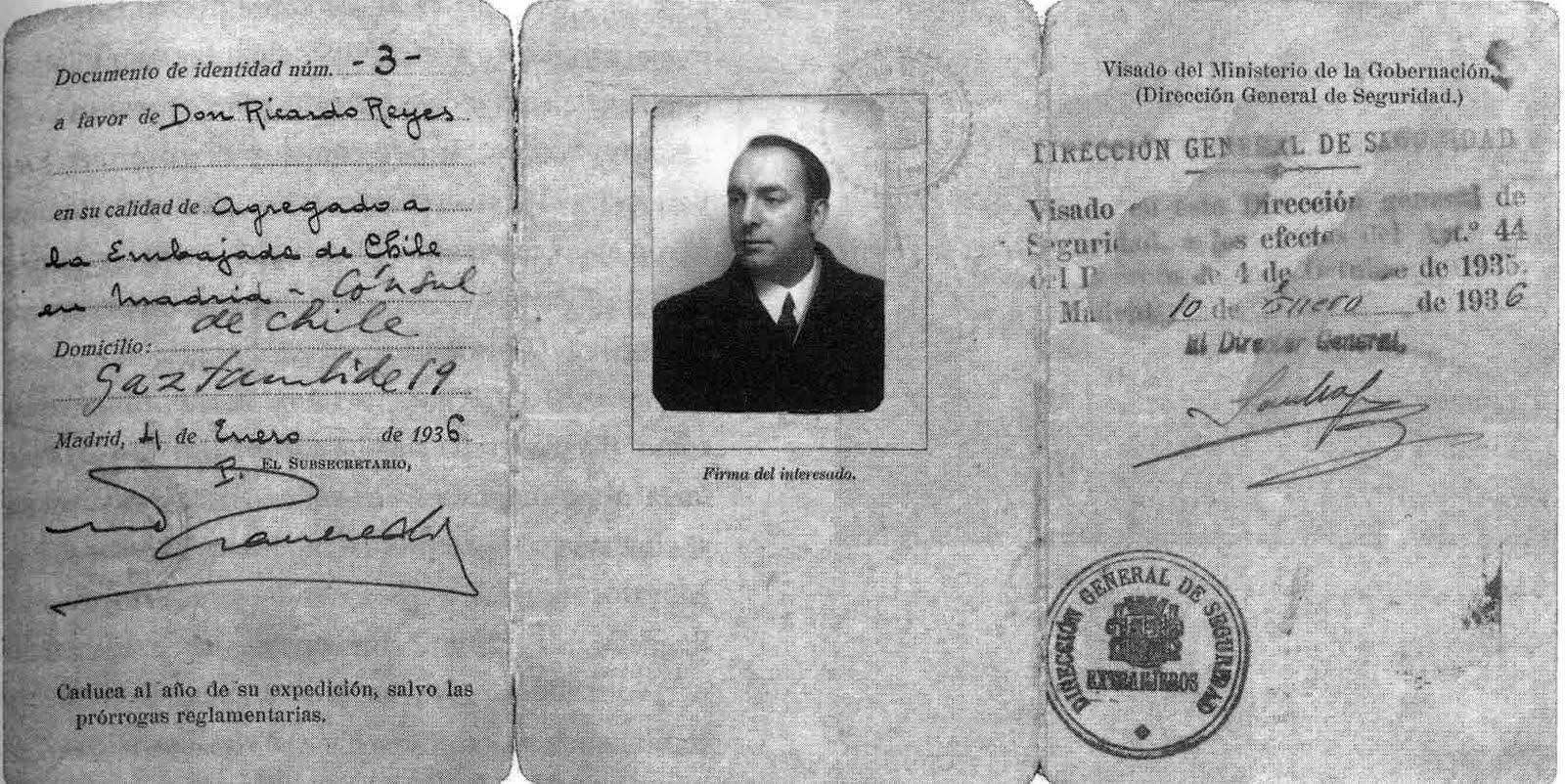 Visado de Pablo Neruda