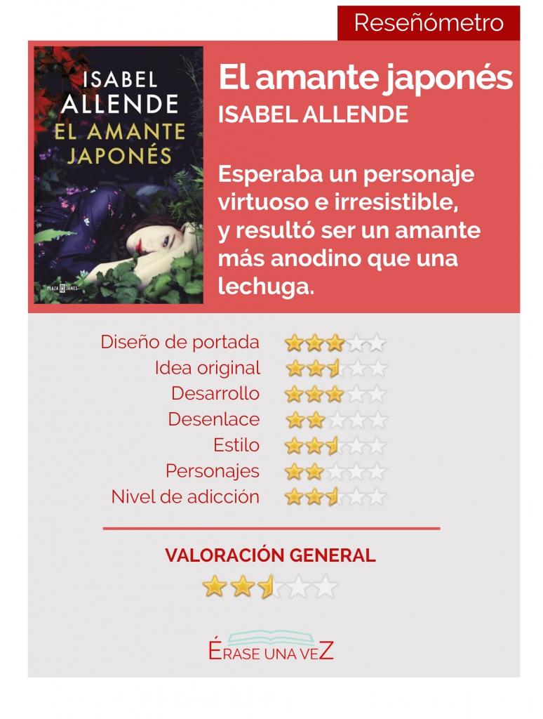 Reseñómetro de El amante japonés, la última novela de Isabel Allende