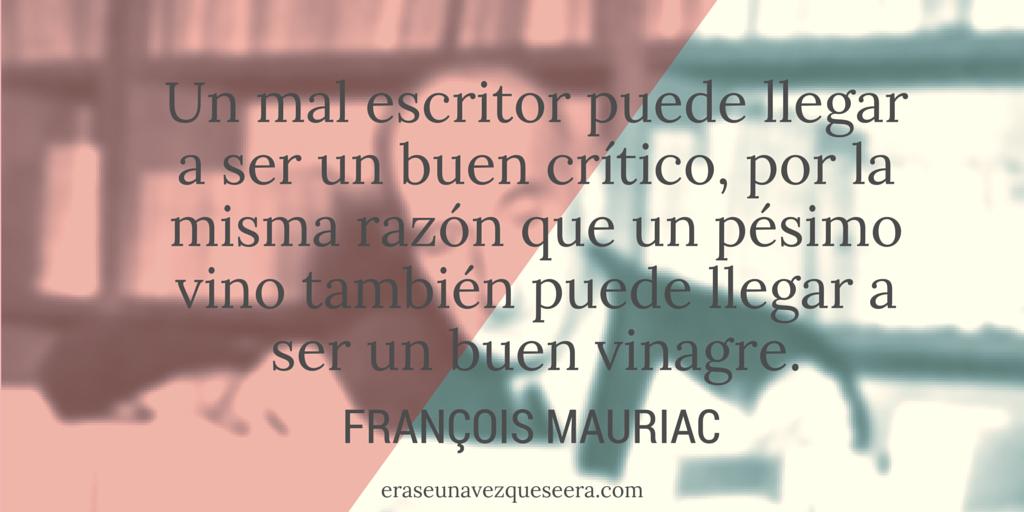 cita sobre la crítica literaria de François Mauriac