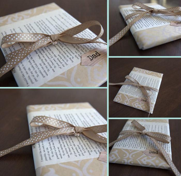 Empaqueta tu libro de regalo con una reseña o el primer capítulo del libro