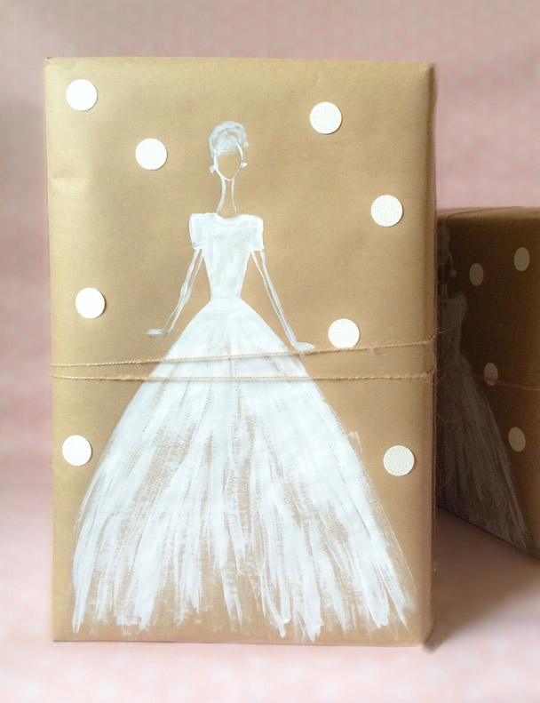 Un libro para una novia con un envoltorio muy original