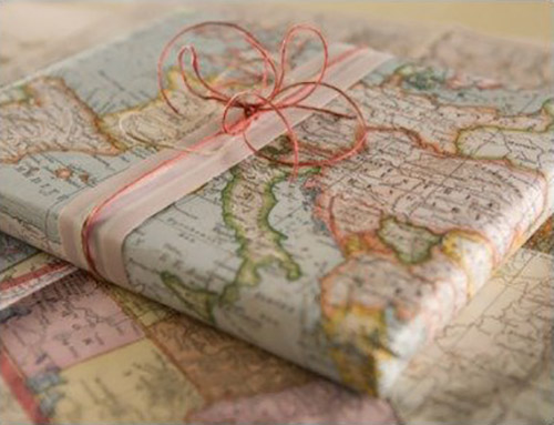 Original forma de empaquetar un libro de viajes