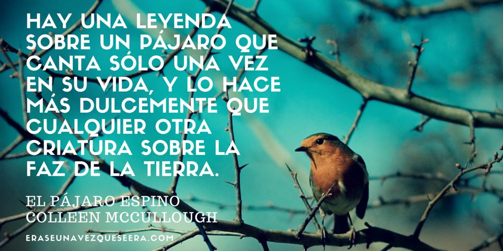 La primera frase de El pájaro espino, la novela de Colleen McCullough