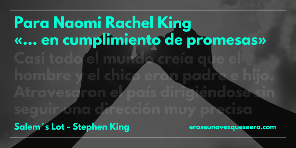 Dedicatoria de Stephen King para su hija