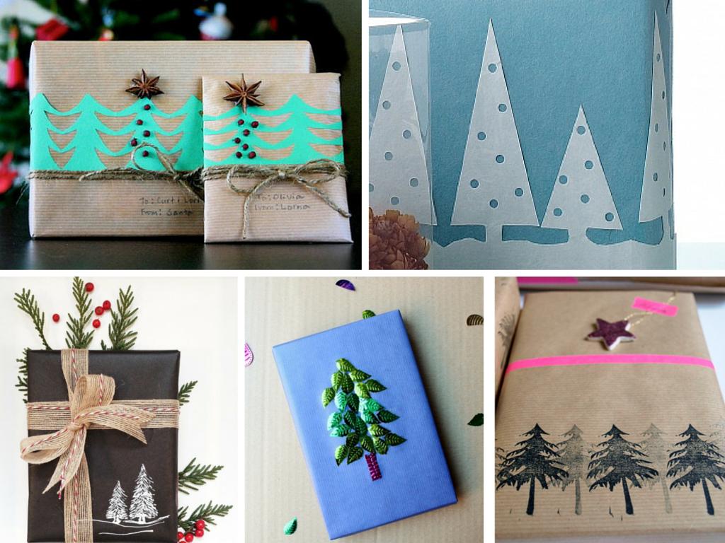 Libros para Navidad ardornados con arbolitos