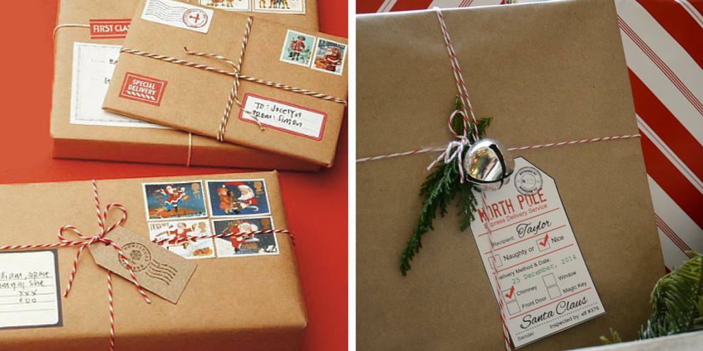 Libros de Navidad empaquetados como envíos postales