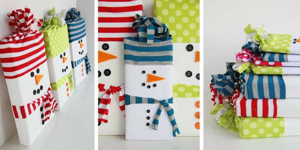 Libros de Navidad como muñecos de nieve