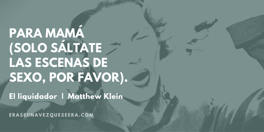 Divertida dedicatoria de Matthew Klein