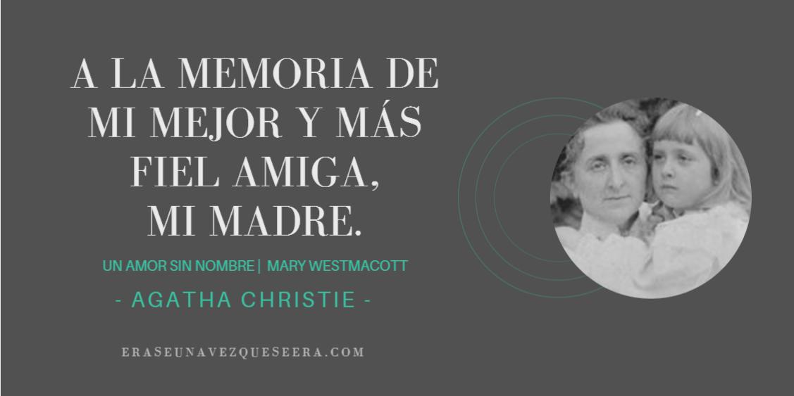 Dedicatoria de Un amor sin nombre, de Agatha Christie