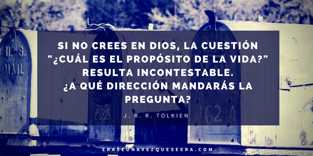 Cita del escritor JRR Tolkien sobre Dios