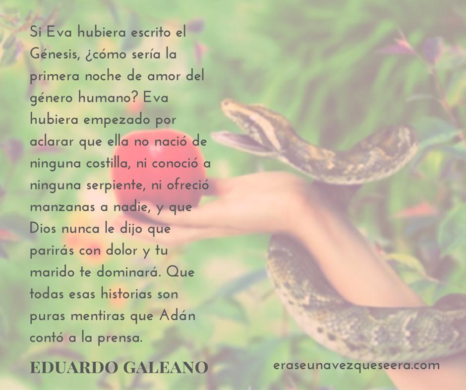 Cita de Eduardo Galeano sobre el Génesis