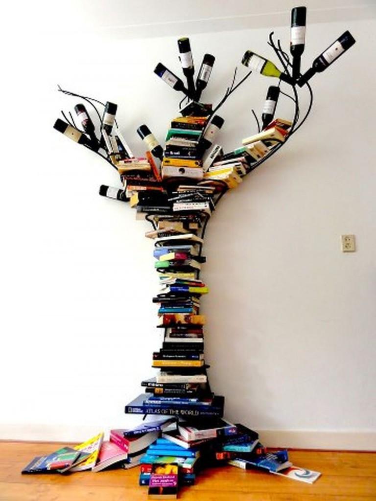 Librería con forma de árbol