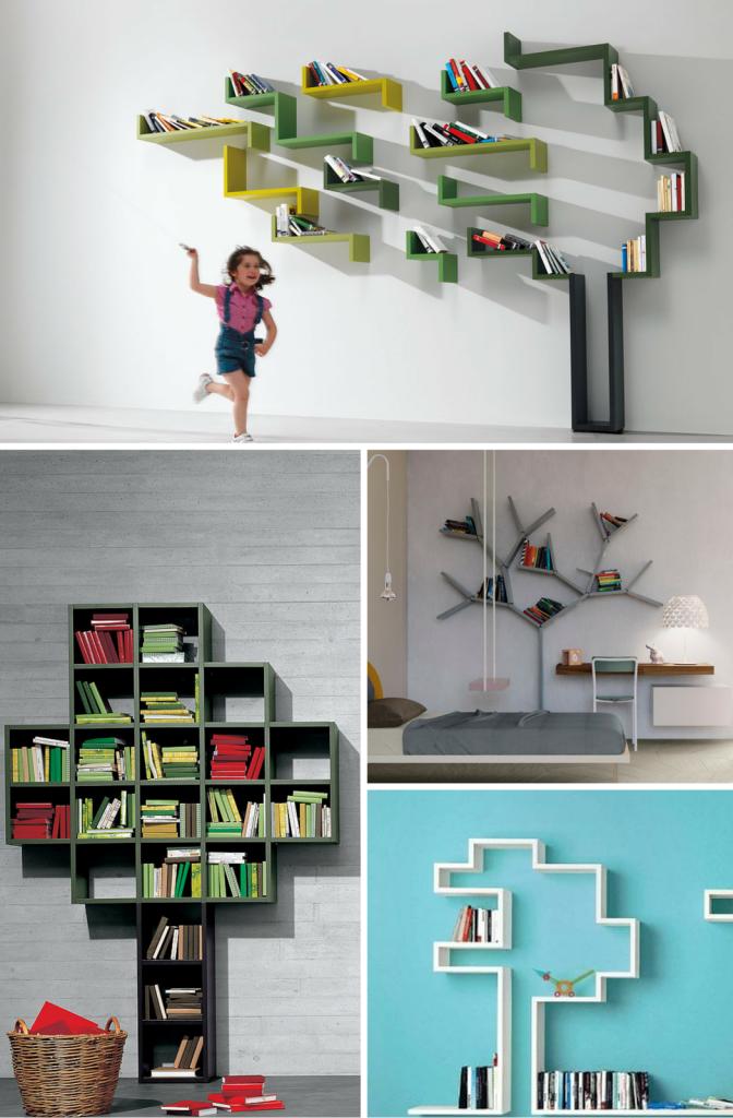 Librerías con forma de árbol