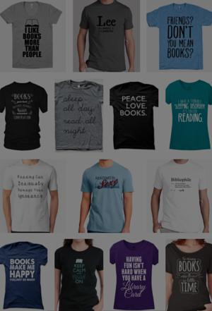 Camisetas para amantes de los libros