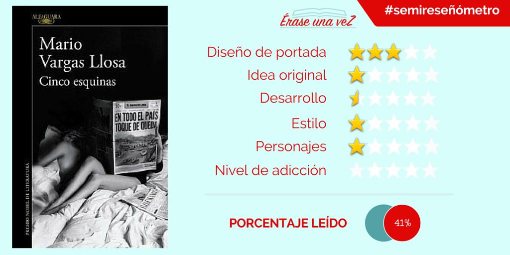 Reseña de Cinco esquinas, de Mario Vargas Llosa