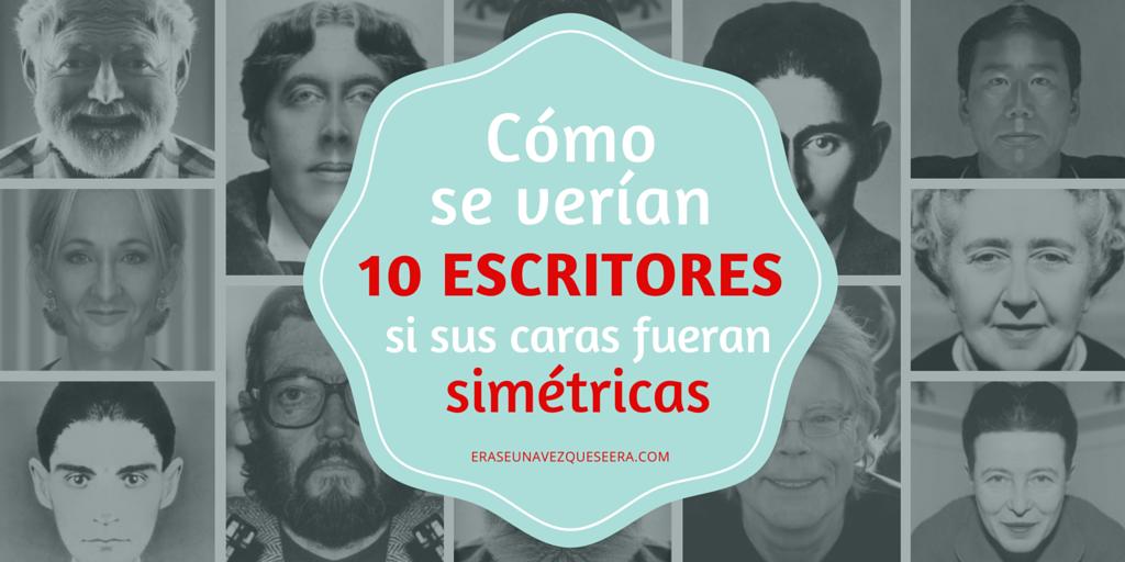 Cómo se verían 10 escritores si sus caras fueran simetricas
