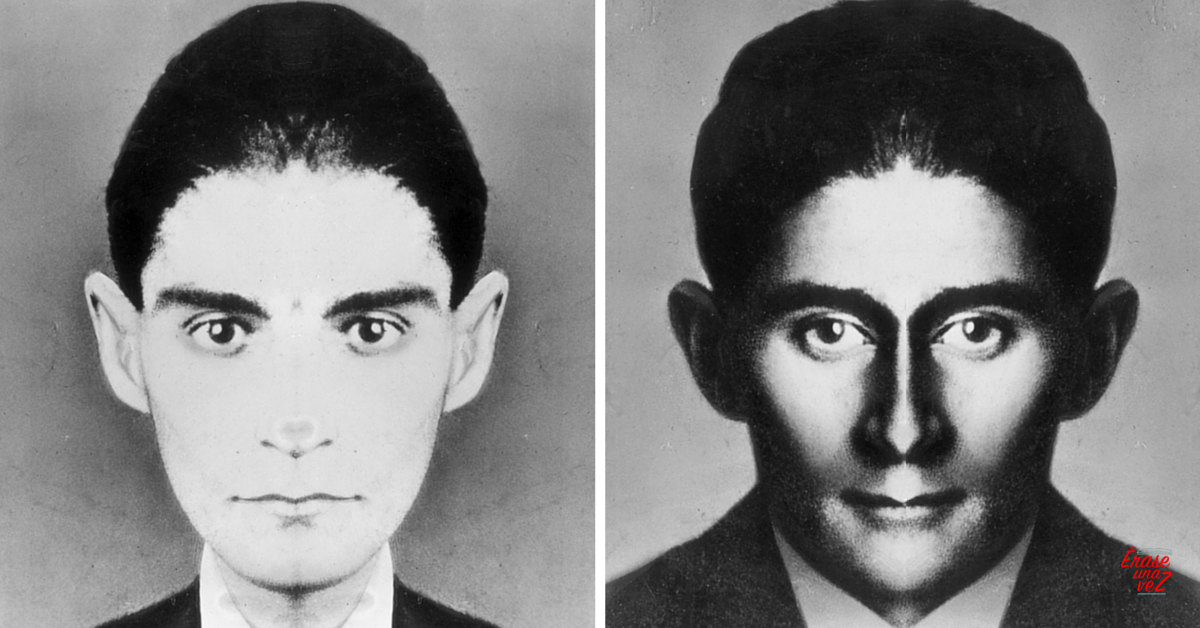 El rostro de Franz Kafka si fuera simétrico