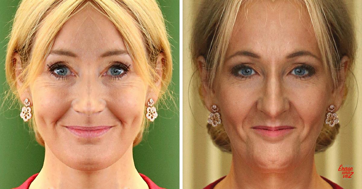 Cómo se vería la cara de JK Rowling si fuera simétrica