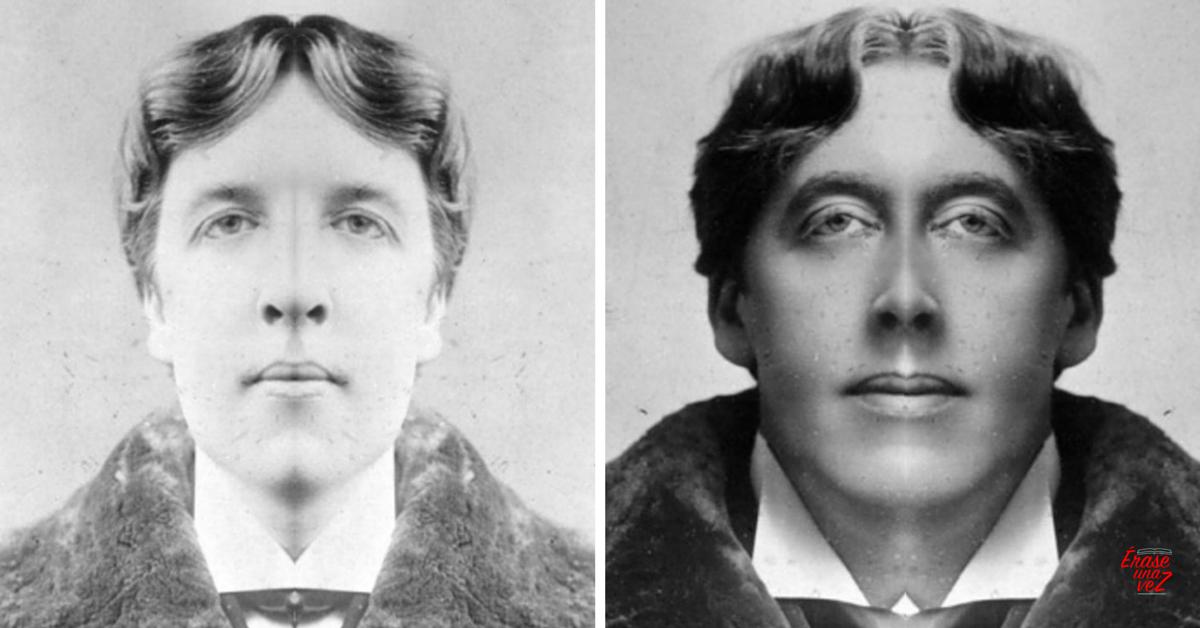Cómo se vería la cara de Oscar Wilde si fuera simétrica