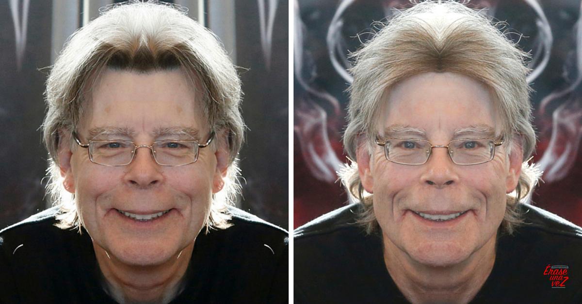 Cómo se vería la cara de Stephen King si fuera simétrica