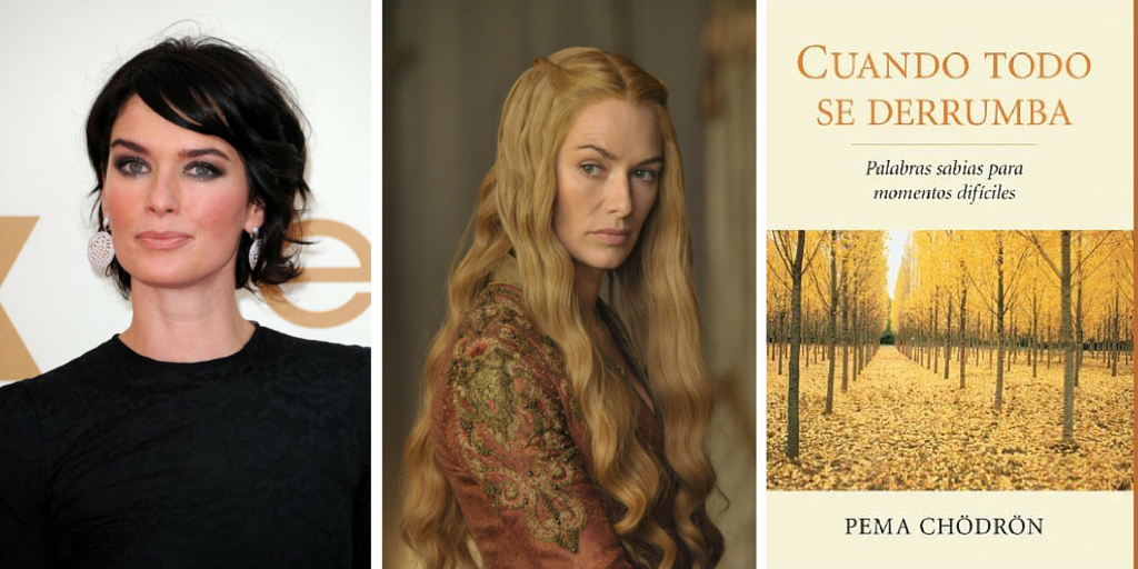 La actriz que interpreta a Cersei Lannister recomienda el libro Cuando todo se derrumba