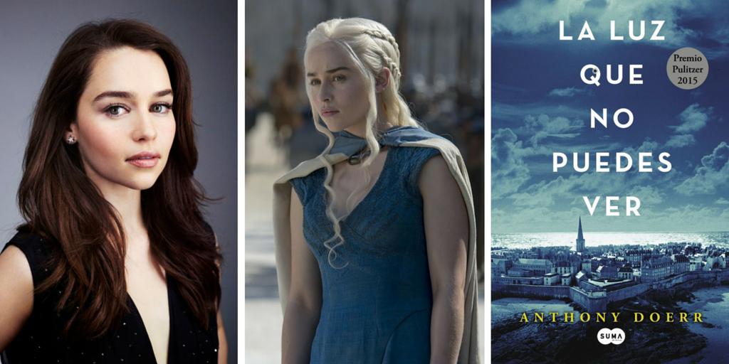 La actriz que interpreta a Daenerys Targaryen recomienda La luz que no puedes ver