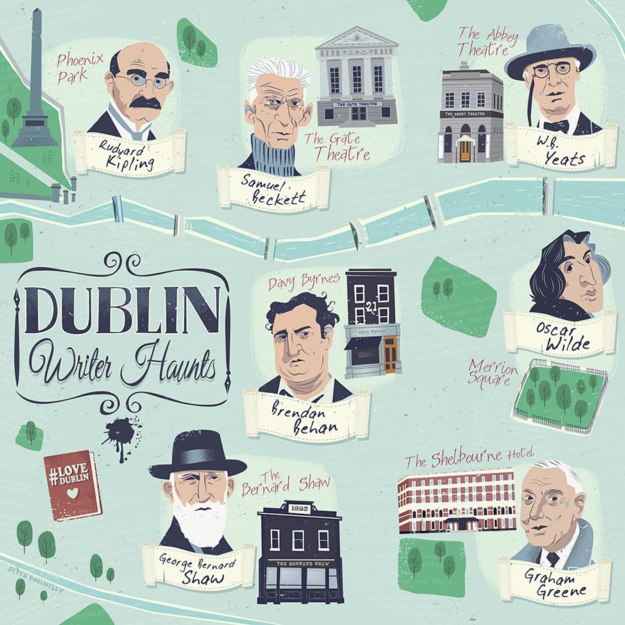 Mapa literario de Dublín