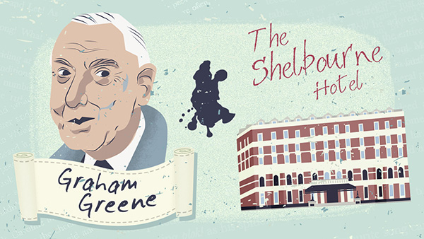 Graham Greene se alojó en el Hotel Shelbourne de Dublín