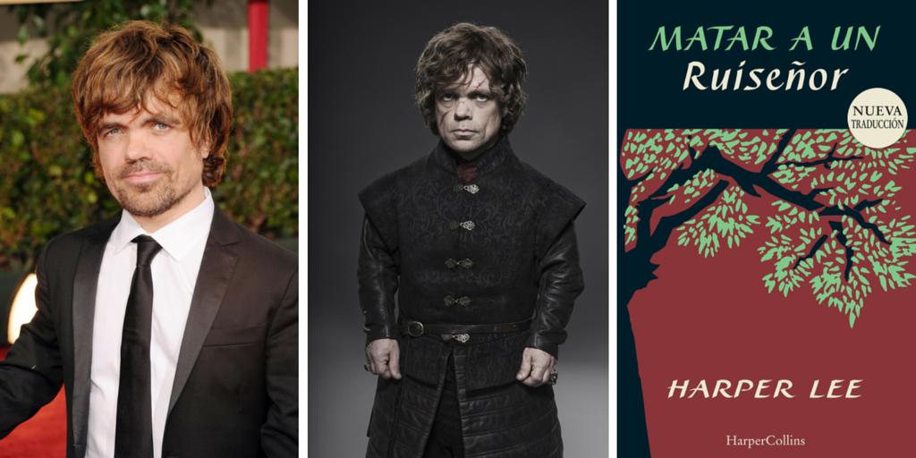 El actor que interpreta a Tyyrion Lannister recomienda el libro Matar un ruiseñor