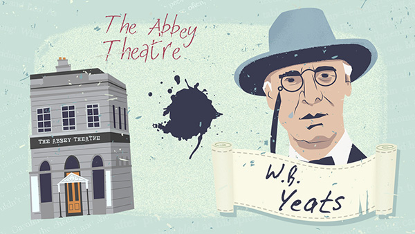 William Butler Yeats fundó el Teatro Abbey de Dublín