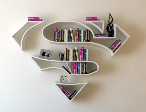 Estanterías de superhéroes para libros