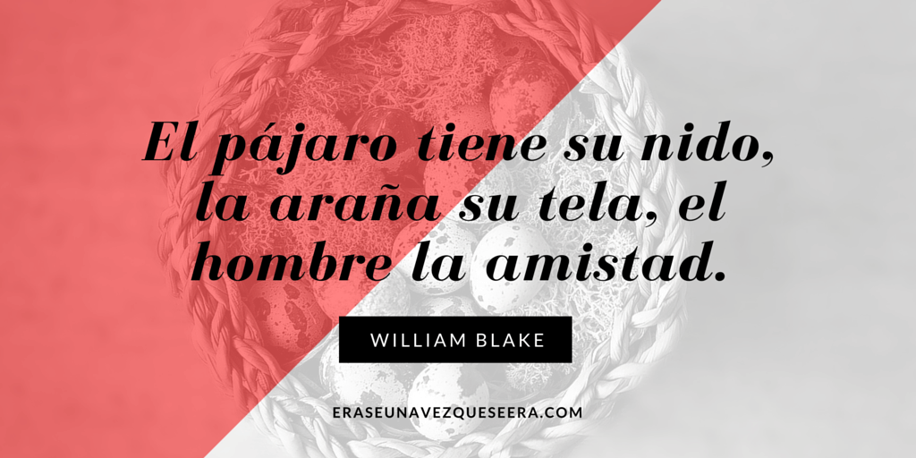 Cita del escritor William Blake sobre la amistad