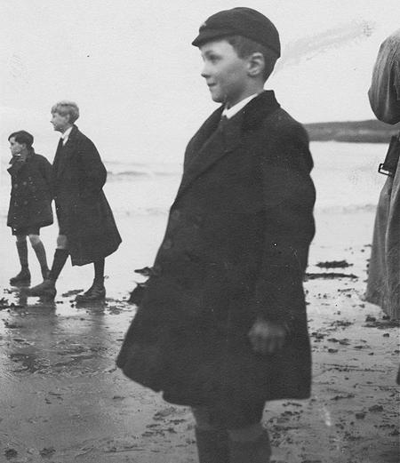 Roald Dahl en 1925, como escolar de la St. Peter's School
