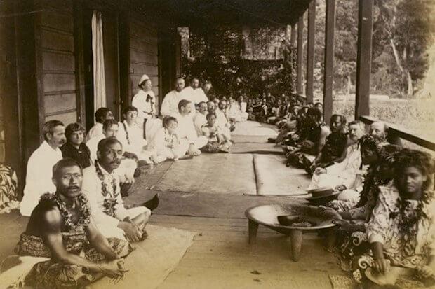 Fiesta de cumpleaños de Robert Louis Stevenson en Samoa, 1893