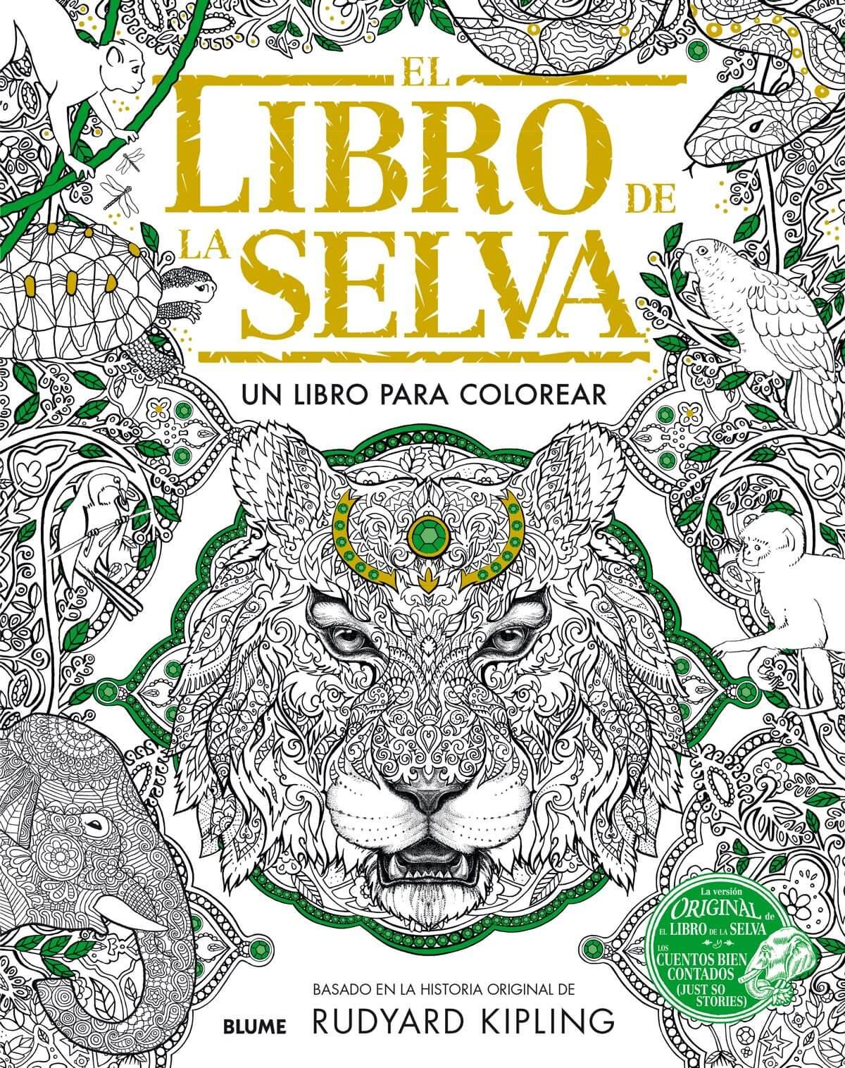 El libro de la selva, un libro para colorear para adultos